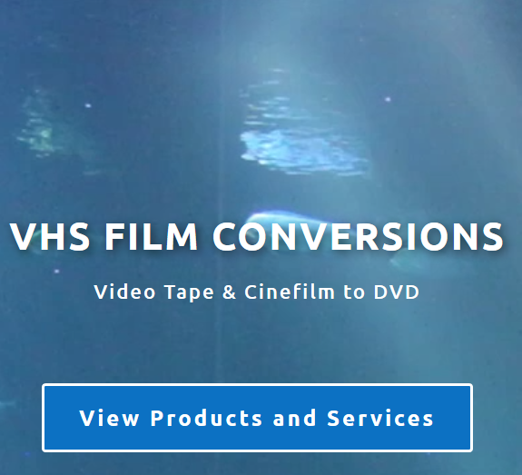VHS Film Conversions Webdesign